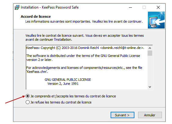 Installation Keepass